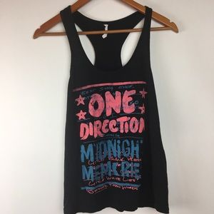 One Direction Black Girl Tank Top Large